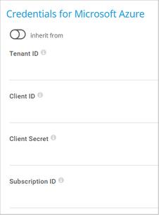 Credentials for Microsoft Azure