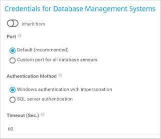 Credentials for Database Management Systems