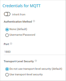 Credentials for MQTT