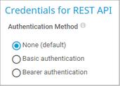 Credentials for REST API
