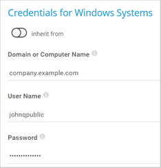 Credentials for Windows Systems