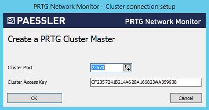 PRTG Administrator: Creating a Cluster Master