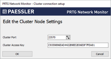 Edit Cluster Node Settings