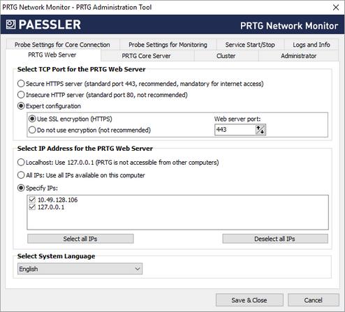 PRTG Administration Tool