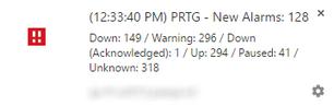 Example of a Chrome Desktop Notification