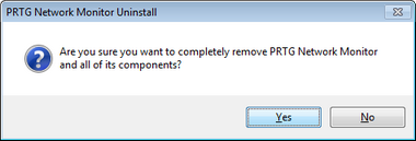 Uninstall PRTG Network Monitor Step 1