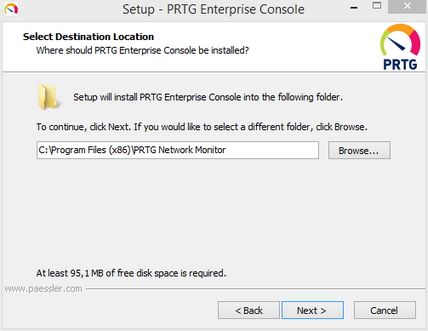Enterprise Console Setup: Installation Folder