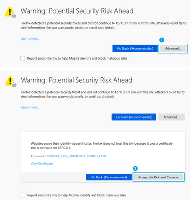 SSL Warning in Firefox