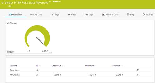 HTTP Push Data Advanced Sensor