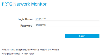 Login | PRTG Network Monitor User Manual