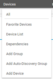 Main Menu: Devices