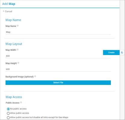 Add Map Dialog
