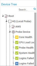 Device Tree Section in the Map Designer