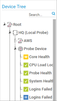 Device Tree Selection in the Map Designer