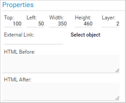 Edit Map Items in the Properties Section