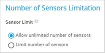 Number of Sensors Limitation
