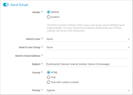 Create an Email Notification