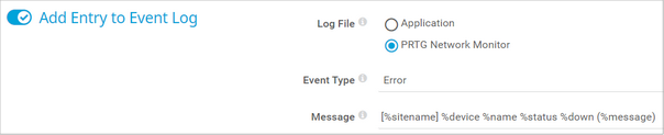 Add Entry to Event Log