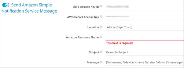 Send Amazon Simple Notification Service Message