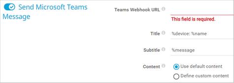 Send Microsoft Teams Message
