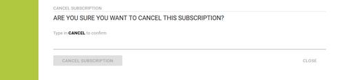 Cancel a Subscription