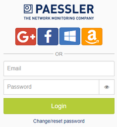 PRTG Hosted by Paessler Login Screen