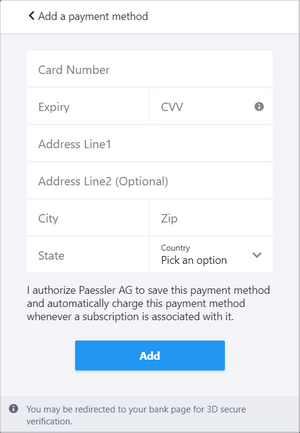 Add a Payment Method