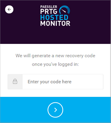 Enter Recovery Code