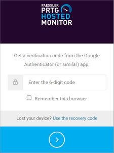 Log In With Multi-Factor Authentication