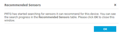 Recommended Sensors Investigation