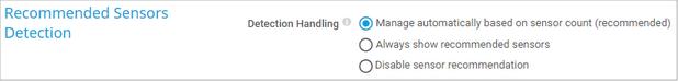 Recommended Sensors Detection Settings