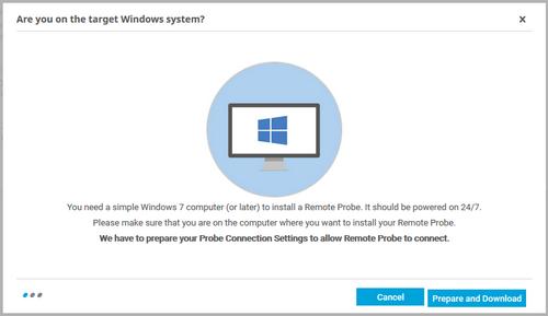 Add Remote Probe Assistant