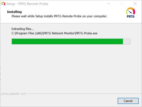 PRTG Remote Probe Setup Installing