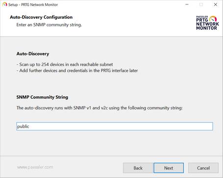 Setup Dialog: Auto-Discovery Configuration