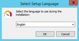 Setup Language Selection