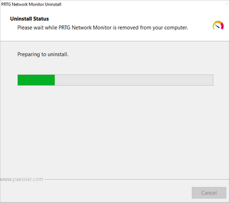 Uninstall PRTG Network Monitor Step 2