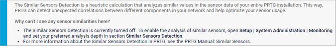 Similar Sensors Detection Notice