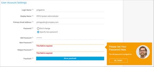 Change the Default Password