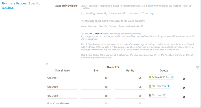 Business Process Specific Settings
