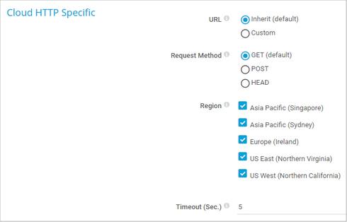 Cloud HTTP Settings