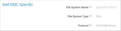 Dell EMC Specific
