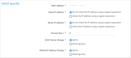 DHCP Specific