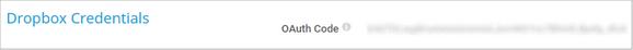 Dropbox Credentials
