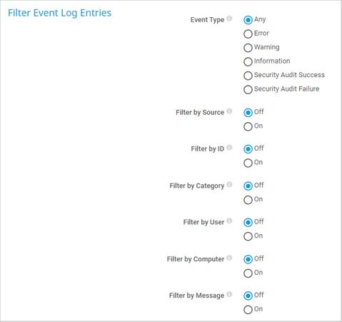 Filter Event Log Entries