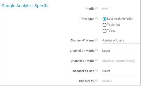Google Analytics Specific