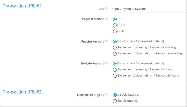 Transaction URL #x
