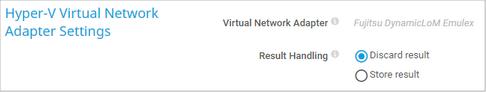 Hyper-V Virtual Network Adapter Settings