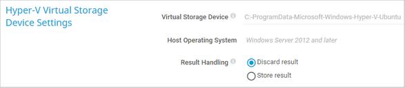 Hyper-V Virtual Storage Device Settings