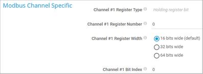 Modbus Channel Specific