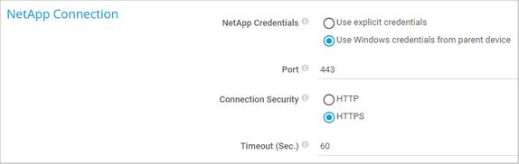 NetApp Connection
